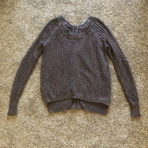 Plum sweater from Maurice's